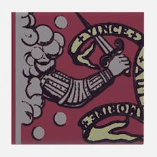 bedford flag Tile Coaster