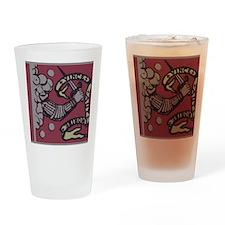 bedford flag Drinking Glass