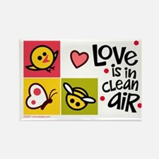Love - Clean Air Rectangle Magnet
