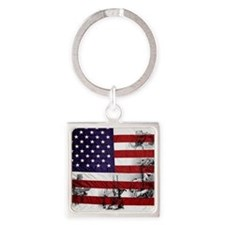 SOLDIER FLAG Square Keychain