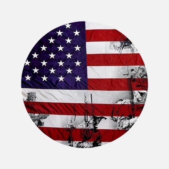"SOLDIER FLAG 3.5"" Button"