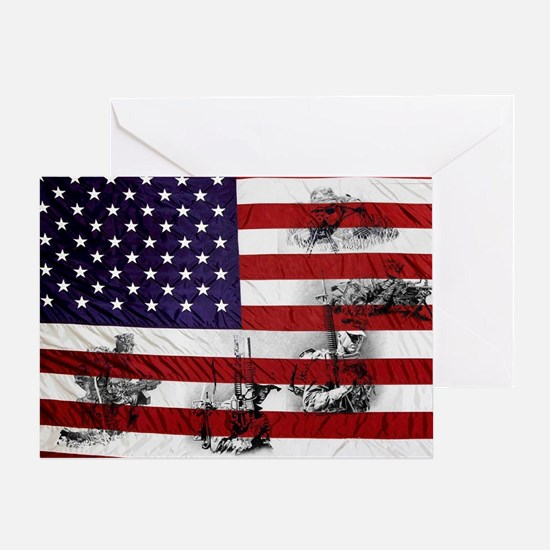 SOLDIER FLAG Greeting Card