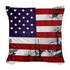 SOLDIER FLAG Woven Throw Pillow