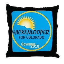 Hickenlooper 2010 Throw Pillow