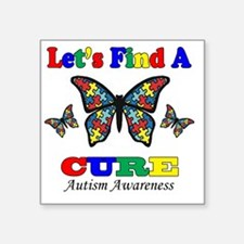 """lets find a cure Square Sticker 3"""" x 3"""""""