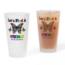 lets find a cure Drinking Glass