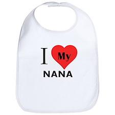I Heart My Nana Bib