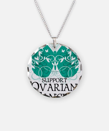 Ovarian-Cancer-Butterfly Necklace