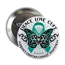 "Ovarian-Cancer-Butterfly-Tribal-2 2.25"" Button"