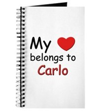 My heart belongs to carlo Journal
