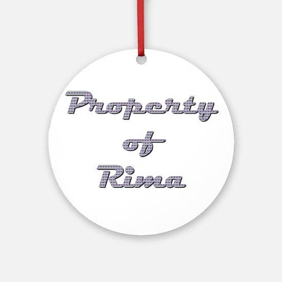 Property Of Rima Female Round Ornament