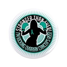 "Ovarian-Cancer-Boxing-Girl 3.5"" Button"