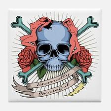 skull-nudes-T Tile Coaster