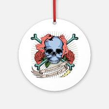 skull-nudes-T Round Ornament