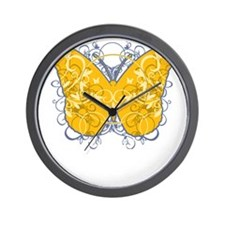 Psoriasis-Butterfly-blk Wall Clock