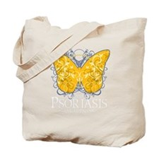 Psoriasis-Butterfly-blk Tote Bag
