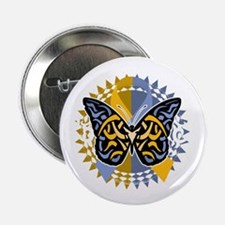 """Psoriasis-Butterfly-Tribal-2-blk 2.25"""" Button"""