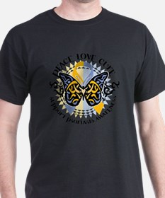 Psoriasis-Butterfly-Tribal-2 T-Shirt