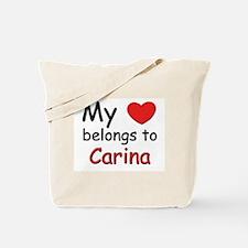 My heart belongs to carina Tote Bag