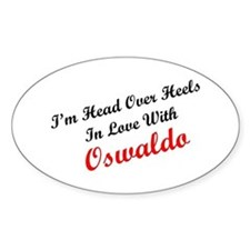 In Love with Oswaldo Oval Decal