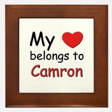 My heart belongs to camron Framed Tile