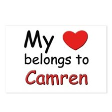 My heart belongs to camren Postcards (Package of 8
