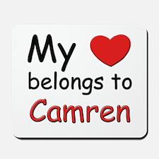 My heart belongs to camren Mousepad