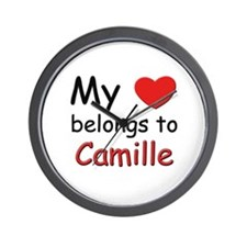 My heart belongs to camille Wall Clock