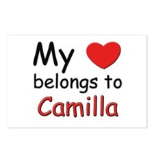 My heart belongs to camilla Postcards (Package of