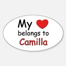 My heart belongs to camilla Oval Decal