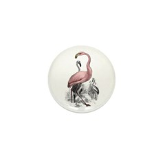 Pink Flamingo Mini Button (10 pack)