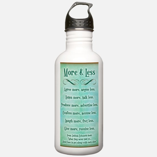 more and less 5x7 Water Bottle