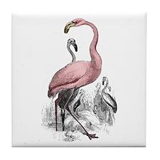 Pink Flamingo Tile Coaster