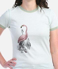 Pink Flamingo Side Graphic T