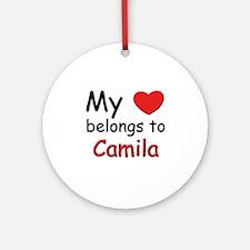 My heart belongs to camila Ornament (Round)