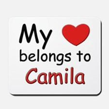 My heart belongs to camila Mousepad