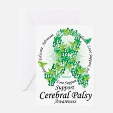 Cerbral-Palsy-Butterfly-Ribbon Greeting Card