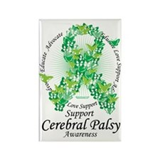 Cerbral-Palsy-Butterfly-Ribbon Rectangle Magnet