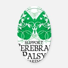Cerebral-Palsy-Butterfly Oval Car Magnet