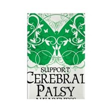 Cerebral-Palsy-Butterfly Rectangle Magnet