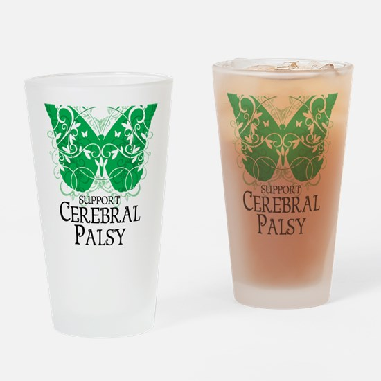 Cerebral-Palsy-Butterfly Drinking Glass