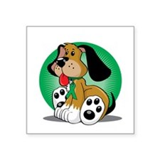 "Cerebral-Palsy-Dog-blk Square Sticker 3"" x 3"""