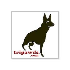 "Tripawds.com Three Legged G Square Sticker 3"" x 3"""