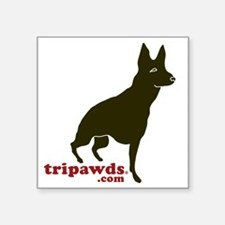 "Tripawds.com Three Legged G Square Sticker 3"" x 3"""