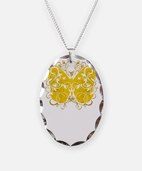 Childhood-Cancer-Butterfly-blk Necklace