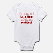 My Daddy is A Seabee and i'm  Infant Bodysuit