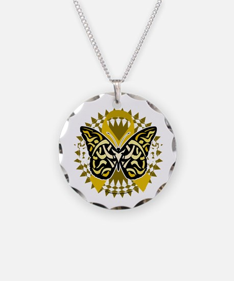 Childhood-Cancer-Butterfly-T Necklace