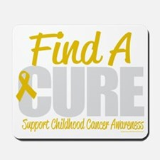 Childhood-Cancer-Find-A-Cure-blk Mousepad