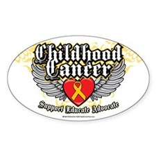 Childhood-Cancer-Wings Decal
