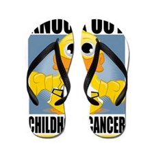 Knock-Out-Childhood-Cancer Flip Flops